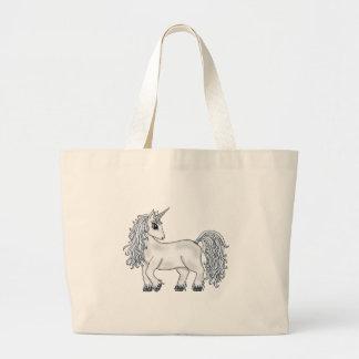 Luna del unicornio bolsa tela grande