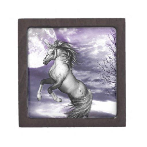 Luna del unicornio cajas de joyas de calidad