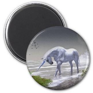 Luna del unicornio imán redondo 5 cm