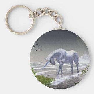 Luna del unicornio llaveros personalizados