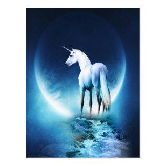 Luna del unicornio tarjeta postal
