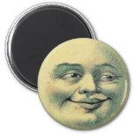 Luna del vintage imanes para frigoríficos