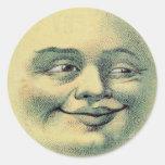 Luna del vintage pegatina
