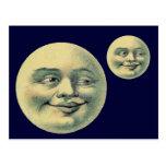 Luna del vintage postal