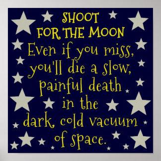 Luna divertida del espacio exterior de Demotivatio Impresiones