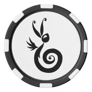 Luna el conejo de la sombra fichas de póquer