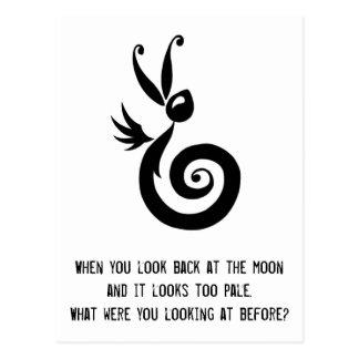 Luna el conejo de la sombra postales