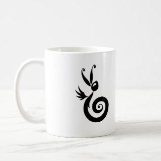 Luna el conejo de la sombra taza de café