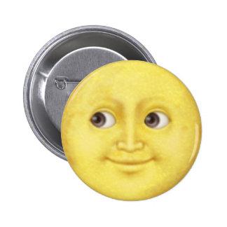 Luna Emoji Pin Redondo De 2 Pulgadas