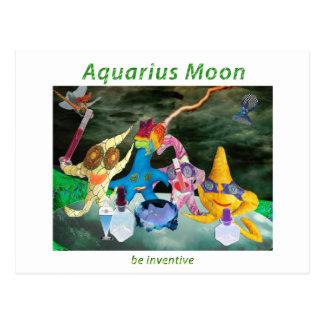 Luna en acuario postal