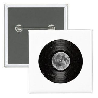 Luna en el expediente de LP del vinilo del espacio Pin