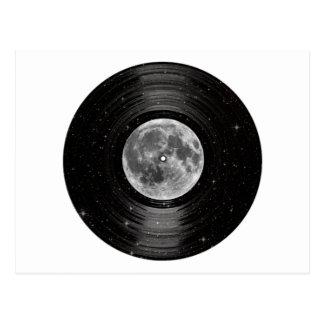 Luna en el expediente de LP del vinilo del espacio Tarjetas Postales