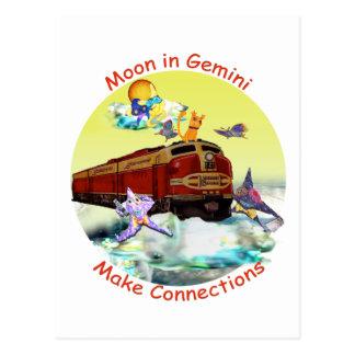 Luna en géminis postal