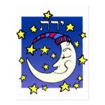 Luna en hebreo tarjetas postales