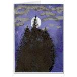 Luna en la noche felicitación