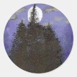 Luna en la noche pegatinas