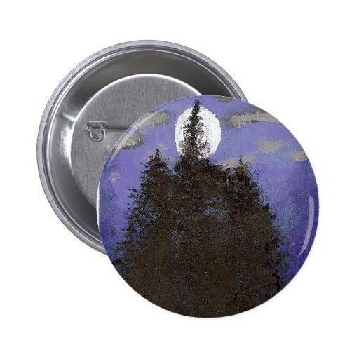 Luna en la noche pins