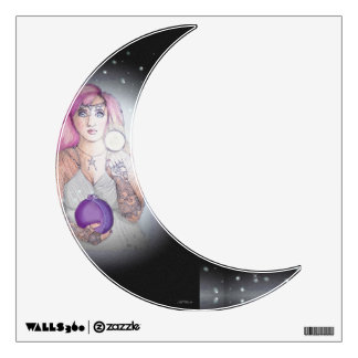 Luna en un Pagan de Wiccan de la bruja de la botel