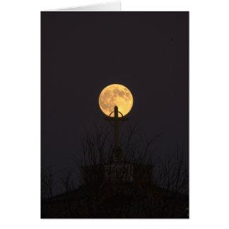 Luna en un palillo tarjeta