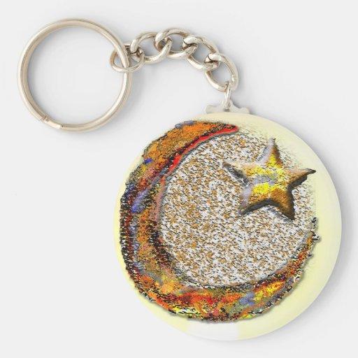 Luna-Estrella - Islam Llavero Personalizado