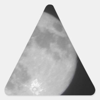 Luna estupenda 2013 pegatina de triangulo personalizadas