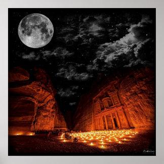Luna estupenda del Petra Póster