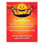 Luna fantasmagórica de encargo de Halloween Tarjetas Informativas