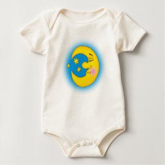 Luna feliz - camiseta mameluco de bebé