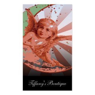 luna femenina del creciente del ángel del vintage plantilla de tarjeta de negocio