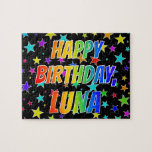 "[ Thumbnail: ""Luna"" First Name, Fun ""Happy Birthday"" Jigsaw Puzzle ]"