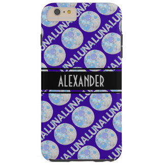 Luna friki azul y púrpura de la Luna Llena del Funda De iPhone 6 Plus Tough