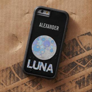 Luna friki azul y púrpura de la Luna Llena del Funda De iPhone 6 Tough Xtreme