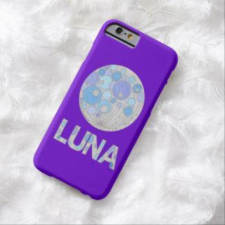 Luna friki azul y púrpura de la Luna Llena del Funda De iPhone 6 Barely There