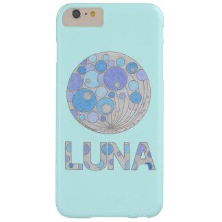 Luna friki azul y púrpura de la Luna Llena del Funda De iPhone 6 Plus Barely There