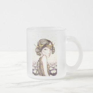 Luna Frosted Glass Coffee Mug