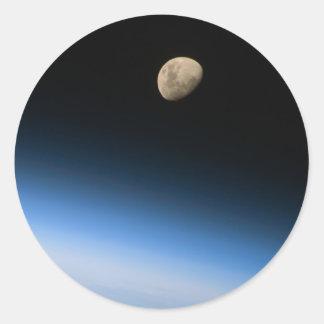 Luna gibosa del pegatina de la órbita