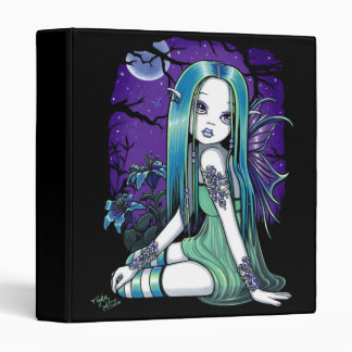 """Luna"" Gothic Moon Lilly Fairy Art Avery Binder"