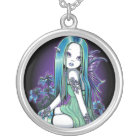 """Luna"" Gothic Moon Lilly Fairy Art Necklace"