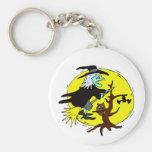 luna Halloween del amarillo del árbol del vuelo de Llaveros
