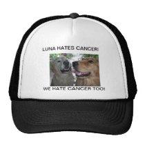 LUNA HATES CANCER! WE HATE CANCER TOO! TRUCKER HAT