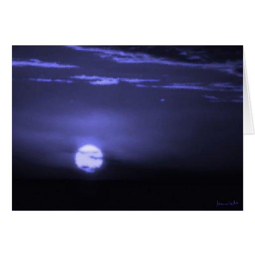 Luna helada felicitacion