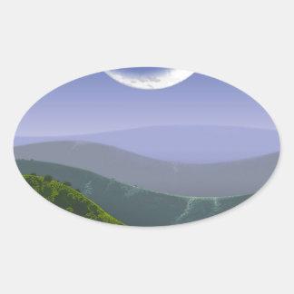 Luna High Rez.jpg Oval Sticker