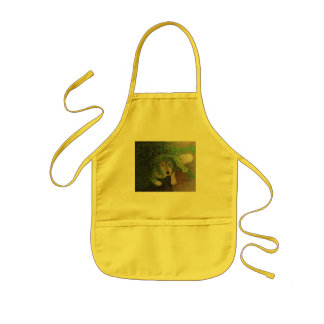 Luna - Husky Wolf Dog Portrait - Sweet Kids' Apron