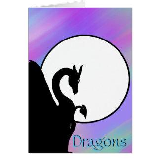 Luna I (neblina colorida) del dragón Tarjeta De Felicitación