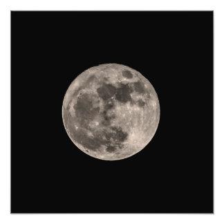 Luna imagen de impresión estupenda de la foto de fotografías