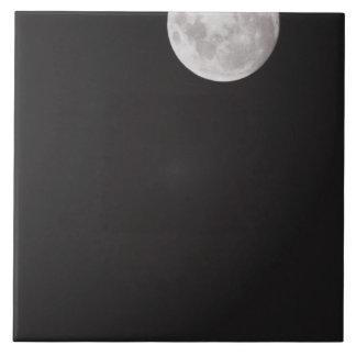 Luna infrarroja azulejo cuadrado grande
