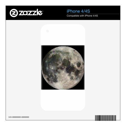 Luna iPhone 4S Calcomanía