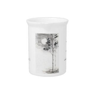 Luna japonesa clásica del bambú del arte de la pin jarras para bebida