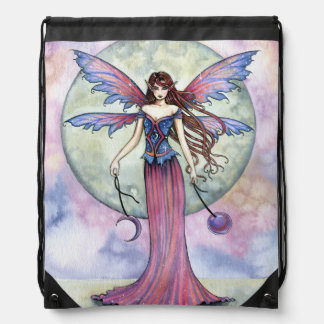 Luna Jewel Fairy Fantasy Art Drawstring Bag