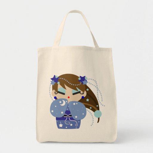 Luna Kokeshi Bolsa Tela Para La Compra
